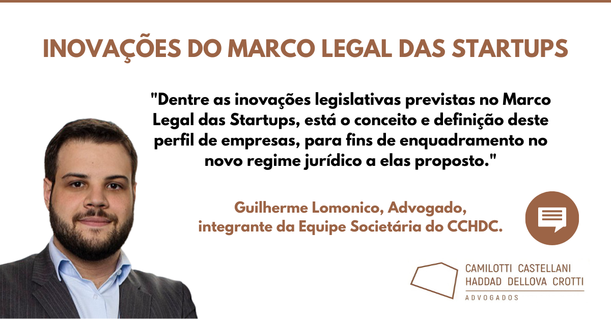 Inovações do Marco Legal das Startups